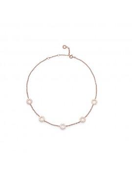 CHANTECLER Suamèm Collana girocollo con simboli in oro rosa 9Kt