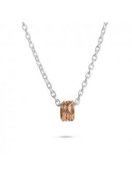 FILODELLAVITA PENDANT MINI RING 13 WIRES IN 9K ROSE GOLD