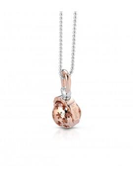 LE BABÈ PENDANT SUONAMORE SONAGLINO IN SILVER ROSE GOLD PLATED AND DIAMOND