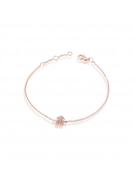 LE BEBÈ GIRL BRACELET BRACELET IN 18K ROSE GOLD AND BRILLIANT PAVÉ