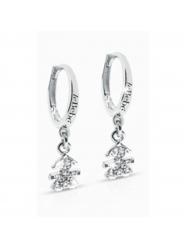 LE BABÈ MONACHINE EARRINGS CRUMBS IN WHITE GOLD AND DIAMOND PAVÉ