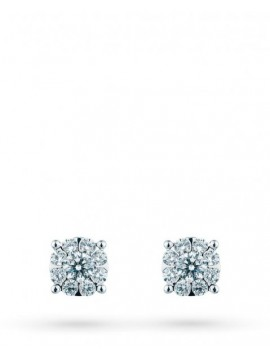 MIRCO VISCONTI WHITE GOLD STUD EARRINGS WITH DIAMONDS