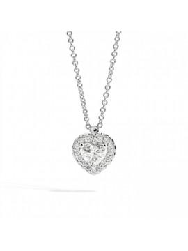 RECARLO HEART NECKLACE IN WHITE GOLD AND DIAMONDS