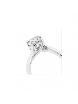 RECARLO SOLITAIRE RING IN WHITE GOLD AND DIAMOND