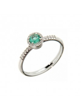 RECARLO GOLD RING WITH EMERALD AND DIAMONDS