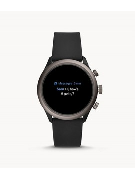 MEN'S FOSSIL SMARTWATCH SPORT WITH BLACK SILICONE STRAP