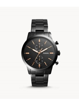 FOSSIL TOWNSMAN CHRONOGRAPH WATCH IN BLACK STAINLESS STEEL