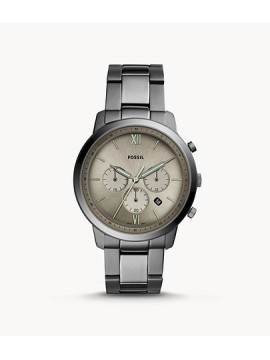 FOSSIL NEUTRA CHRONO WATCH IN SMOKE GRAY STEEL