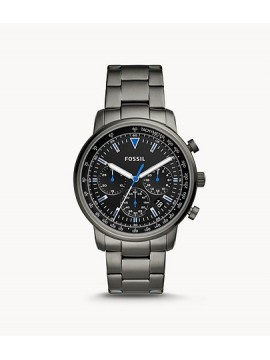 FOSSIL GOODWIN CHRONO WATCH IN SMOKE GRAY STEEL