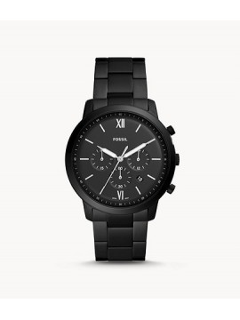 FOSSIL NEUTRA CHRONO BLACK STAINLESS STEEL WATCH