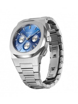 D1 MILANO ICONIC BLUE CHRONOGRAPH STEEL WATCH 41.5 MM