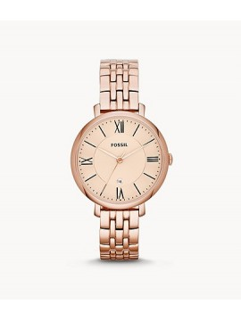 FOSSIL JACQUELINE STEEL WATCH ROSE GOLD TONE