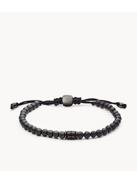 FOSSIL MEN'S VINTAGE CASUAL BRACELET IN HEMATITE AND LAVA STONE