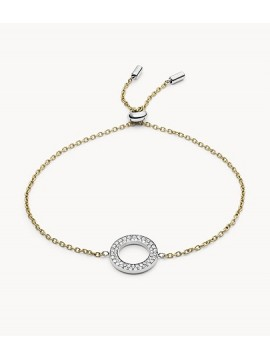 FOSSIL ETERNITY CIRCLE BRACELET IN TWO-TONE AND CRYSTAL STEEL