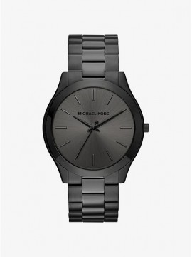 MICHAEL KORS RUNWAY THIN WATCH IN BLACK STAINLESS STEEL