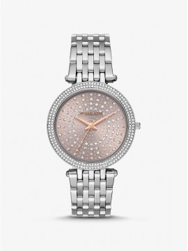 MICHAEL KORS DARCI WOMAN STAINLESS STEEL WATCH WITH PAVÉ