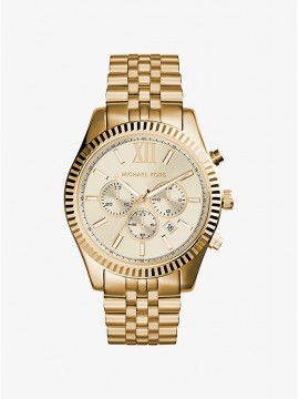 MICHAEL KORS LAYTON CHRONOGRAPH WATCH IN STAINLESS STEEL GOLD TONE