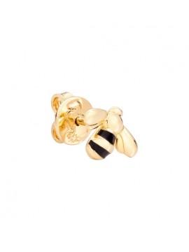 DODO MONO BEE EARRING IN 18K YELLOW GOLD AND BLACK ENAMEL