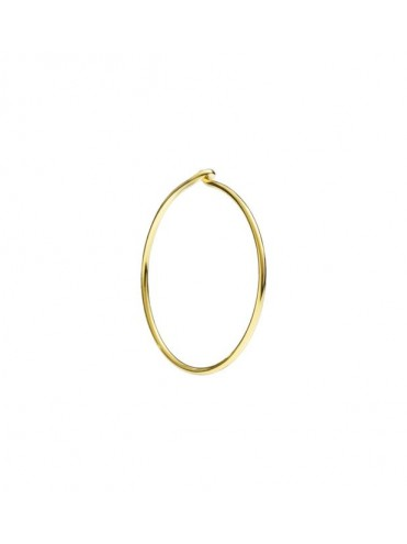 DODO MONO LARGE HOOP EARRING IN 18K YELLOW GOLD