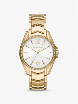 MICHAEL KORS WHITNEY WOMAN WATCH IN STAINLESS STEEL GOLD TONE