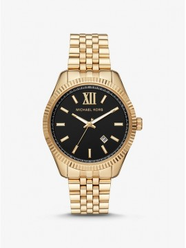 MICHAEL KORS LEXINGTON STAINLESS STEEL WATCH GOLD TONE
