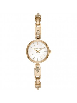 MICHAEL KORS JARYN MERCER WOMAN WATCH IN STEEL GOLD TONE WITH CRYSTALS