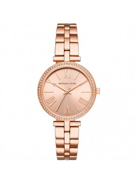 MICHAEL KORS MACI WOMAN WATCH IN ROSE GOLD TONE STEEL WITH CRYSTALS