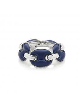 CHANTECLER CAPRINESS BRACELET MARINE SWEATER IN SILVER AND BLUE ENAMEL - M