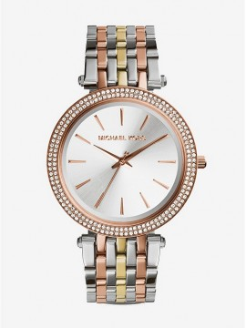 MICHAEL KORS DARCI WOMEN'S WATCH IN TWO-TONE STAINLESS STEEL WITH PAVÉ