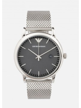 EMPORIO ARMANI LUIGI STAINLESS STEEL WATCH AND MESH BRACELET