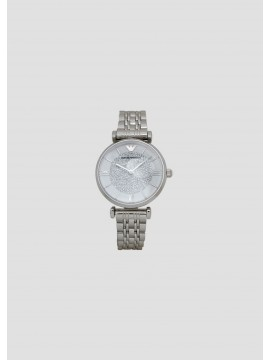 EMPORIO ARMANI GIANNI WOMAN WATCH IN STAINLESS STEEL WITH STRASS
