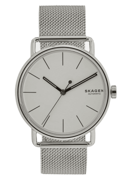 SKAGEN FALSTER AUTOMATIC STAINLESS STEEL WATCH AND MESH BRACELET