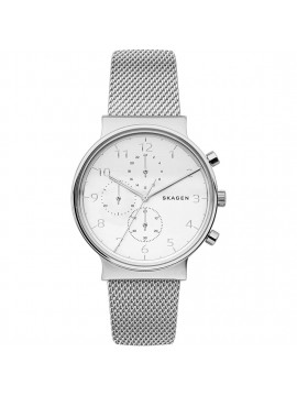 SKAGEN ANCHER STAINLESS STEEL CHRONOGRAPH WATCH WITH MESH BRACELET