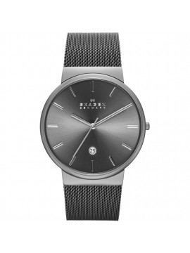 SKAGEN ANCHER POLISHED STAINLESS STEEL WATCH GRAY SHADES