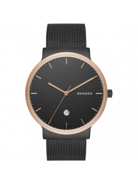 SKAGEN ANCHER SATIN STAINLESS STEEL WATCH WITH ROSE GOLD FINISH