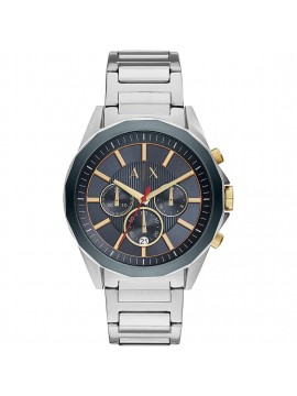 ARMANI EXCHANGE DREXLER CHRONOGRAPH WATCH IN STAINLESS STEEL AND BLUE DIAL