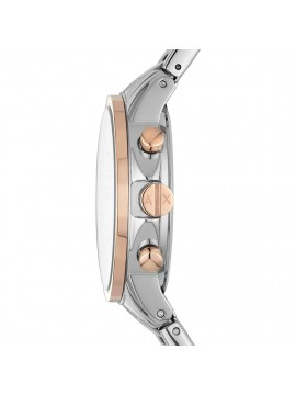 ARMANI EXCHANGE LADY BANKS WOMAN CHRONOGRAPH WATCH IN TWO-TONE STAINLESS STEEL