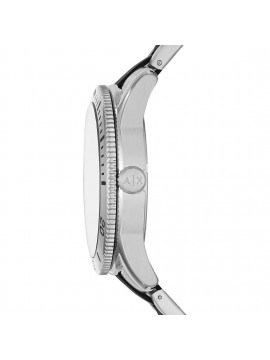 ARMANI EXCHANGE STAINLESS STEEL WATCH SILVER AND BLACK TONALITY