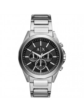 ARMANI EXCHANGE DREXLER CHRONOGRAPH WATCH IN STAINLESS STEEL AND BLACK DIAL