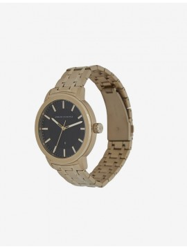 ARMANI EXCHANGE MADDOX STAINLESS STEEL WATCH GOLD TONE AND FREE GIFT BRACELET BLACK BALLS COORDINATED