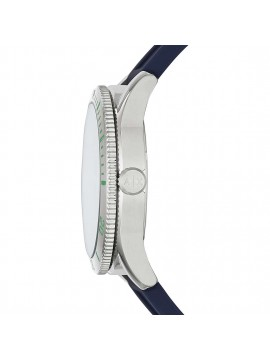 ARMANI EXCHANGE STAINLESS STEEL WATCH AND BLUE SILICONE STRAP