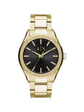 ARMANI EXCHANGE GOLD TONE STAINLESS STEEL WATCH