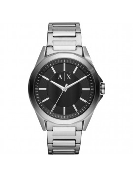 ARMANI EXCHANGE DREXLER STAINLESS STEEL WATCH AND BLACK DIAL