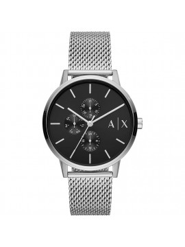 ARMANI EXCHANGE CYDE MULTIFUNCTION STAINLESS STEEL WATCH AND MESH BRACELET