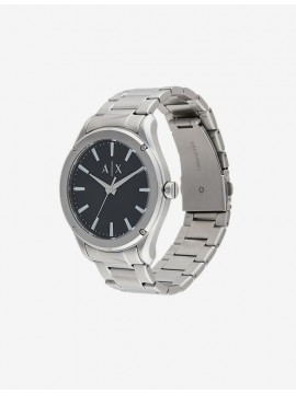 ARMANI EXCHANGE STAINLESS STEEL WATCH SILVER TONE AND BLACK DIAL