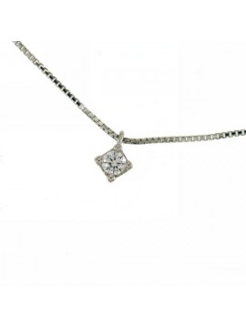 MIRCO VISCONTI LIGHT POINT NECKLACE IN WHITE GOLD AND DIAMOND