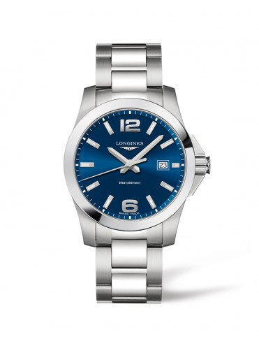 LONGINES CONQUEST WATCH IN STAINLESS STEEL AND BLUE DIAL