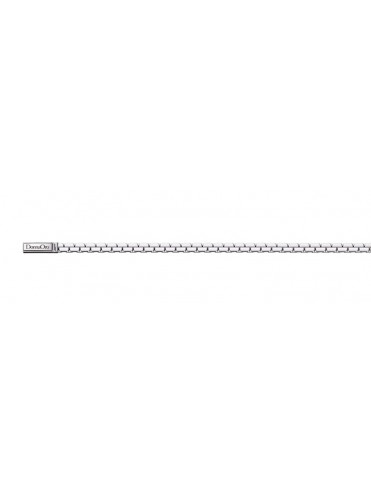 ELEMENTS WOMEN'S SOFT MESH BRACELET IN POLISHED SILVER WITH STEEL CLOSURE