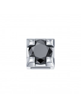 ELEMENTS SQUARE GRIFFE IN WHITE GOLD AND BLACK DIAMOND