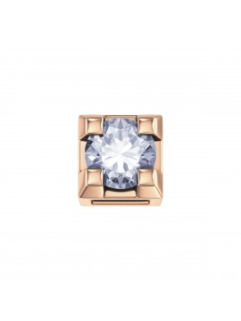 ELEMENTS SQUARE JAWS IN ROSE GOLD AND DIAMOND